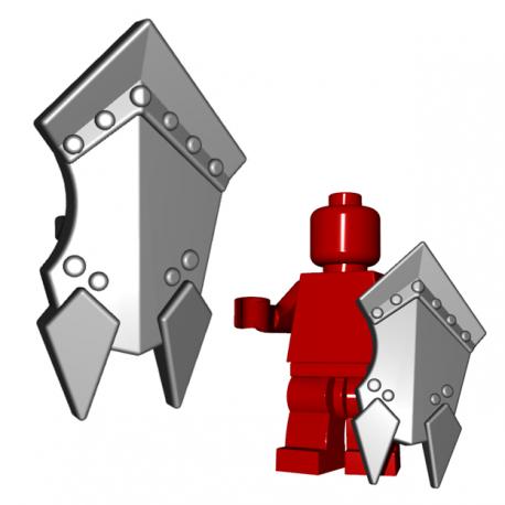 Lego Minifigure BrickWarriors - Orc Shield (Steel)