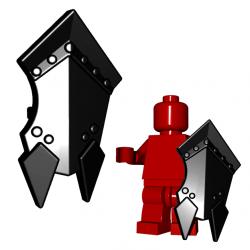 Lego Minifigure BrickWarriors - Orc Shield (Black)