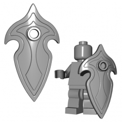 Lego Minifigure Brick Warriors - Bouclier d'Elfe (Steel)