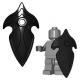 Lego Minifigure Brick Warriors - Bouclier d'Elfe (Noir)