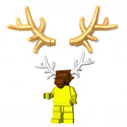 Lego Minifigure Brick Warriors - Antlers (Pearl Gold)