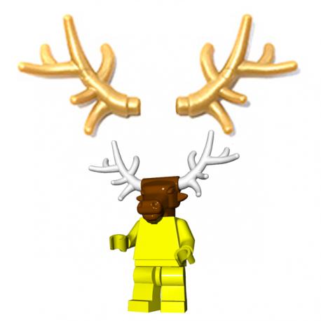 Lego Minifigure Brick Warriors - Bois de cervidé (Pearl Gold)