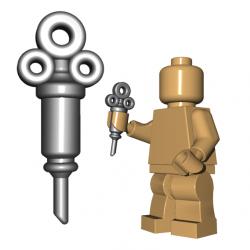 Lego Minifigure BrickWarriors - Syringe (Steel)