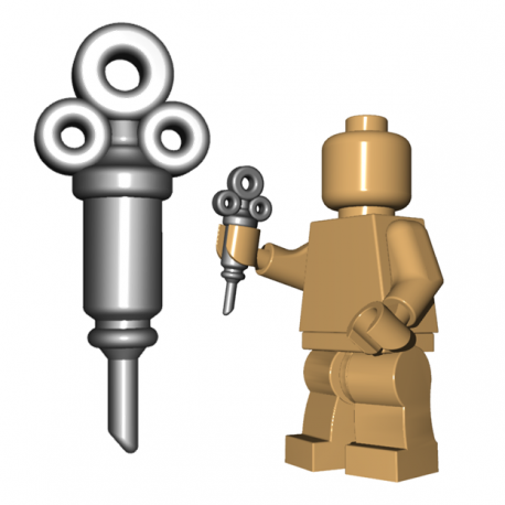 Lego Minifigure BrickWarriors - Syringe (Steel)