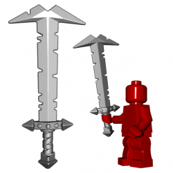 Lego Minifigure BrickWarriors - Orc Greatsword (Steel)