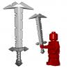 Lego Minifigure BrickWarriors - Grande Epée d'Orc (Steel)