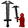 Lego Minifigure BrickWarriors - Orc Greatsword (Black)