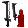 Lego Minifigure BrickWarriors - Cimeterre d'Orc (Noir)