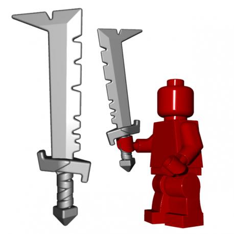Lego Minifigure BrickWarriors - Orc Scimitar (Steel)