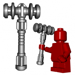 Lego Minifigure BrickWarriors - Dwarf Hammer (Steel)