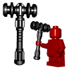 Lego Minifigure BrickWarriors - Dwarf Hammer (Black)