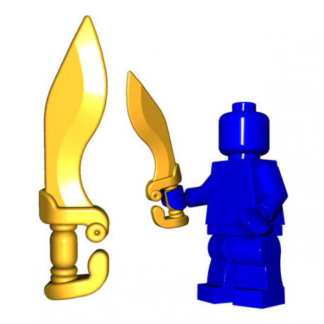 Lego Minifigure BrickWarriors - Falcata (Pearl Gold)