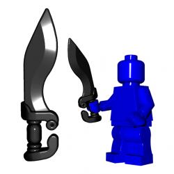Lego Minifigure BrickWarriors - Falcata (Noir)