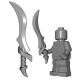 Lego Minifigure BrickWarriors - Elf Sword (Steel)