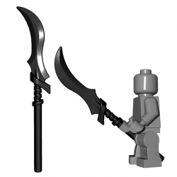 Lego Minifigure BrickWarriors - Elf Spear (Black)