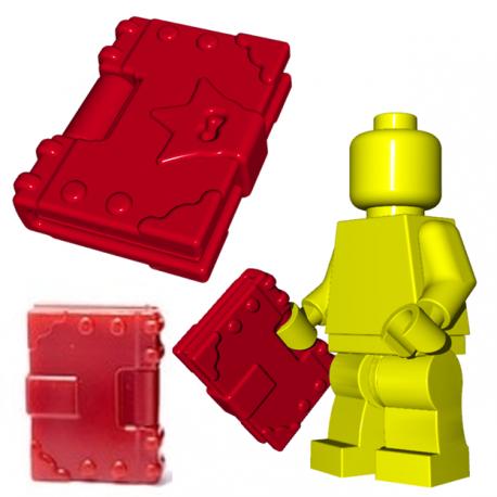 Lego Minifigure BrickWarriors- Spellbook (Dark Red)