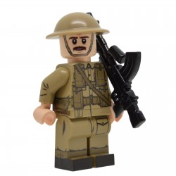 United Bricks - WW2 British Army Bren Crew Member (Mid-late war) Minifigure lego army