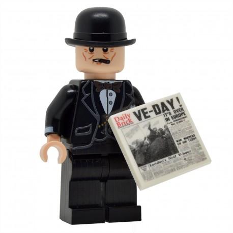 United Bricks - Winston Churchill Minifigure Lego
