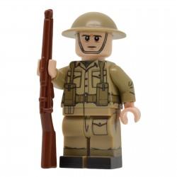 United Bricks - Fusilier de l'armée britannique (Milieu & fin de la guerre) WW2 Minifigure Lego