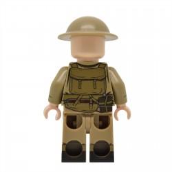 United Bricks - WW2 British Army Rifleman (Mid-late war) Minifigure Lego