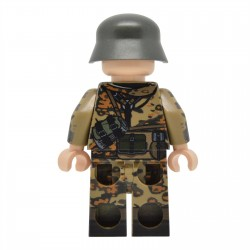 United Bricks - WW2 Soldat Allemand Oak Leaf Camo Smock (Kar98k) Minifigure Lego