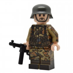 United Bricks - WW2 Soldat Allemand Oak Leaf Camo (MP40) Minifigure Lego