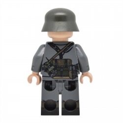United Bricks - WW2 Allemand Rifleman v2 Stahlhelm Minifigure Lego