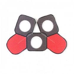 Lego Accessoires Minifigure Clone Army Customs - Delta Pauldron Double Rouge