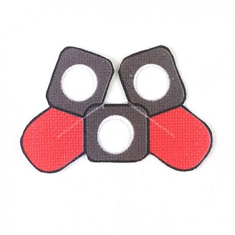 Lego Accessories Minifigure Clone Army Customs - Delta Pauldron Double Red