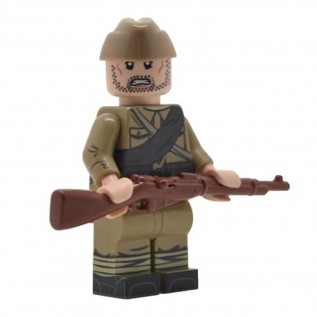 United Bricks - WW2 Infanterie soviétique avec M35 Gymnastyorka (Mosin) Minifigure