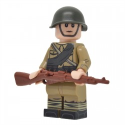 United Bricks - WW2 Soviet Infantry with M35 Gymnastyorka (Mosin) Minifigure