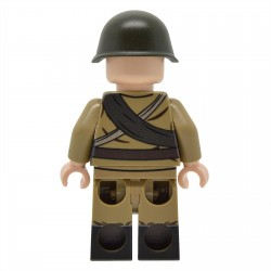 United Bricks - WW2 Infanterie soviétique avec M35 Gymnastyorka (PPSh-41) Minifigure