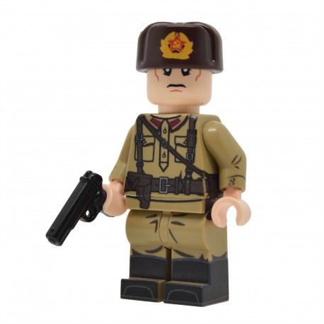 United Bricks - WW2 NCO Soviétique avec M35 Gymnastyorka Minifigure
