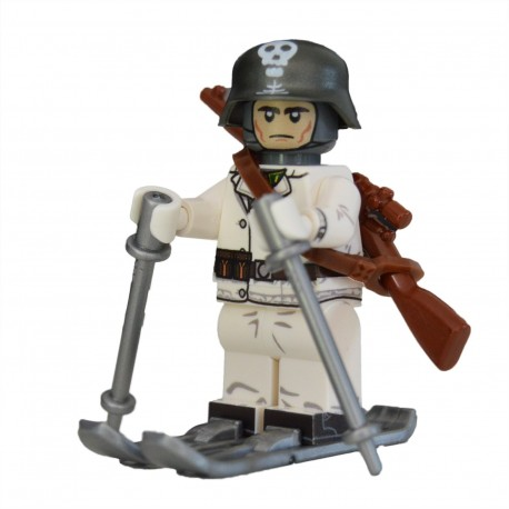 Lego United Bricks - WW2 Soldat à ski Finlandais Minifigure
