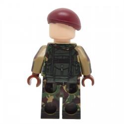 United Bricks - Parachutiste Britannique de la Guerre des Malouines Minifigure