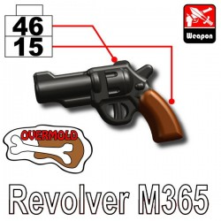 Lego Accessoires Minifig Custom SIDAN TOYS Revolver M365 (Pearl Dark Black/Brown) (La Petite Brique)