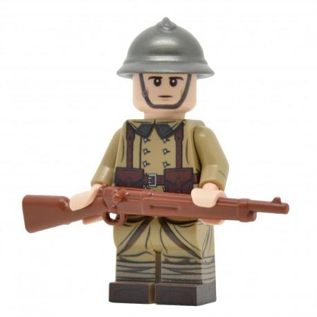 Lego United Bricks - WW2 Infanterie Française Minifigure