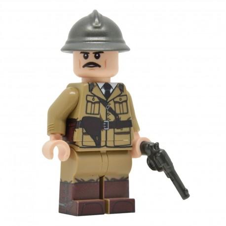 Lego United Bricks - WW2 Officier Français Minifigure