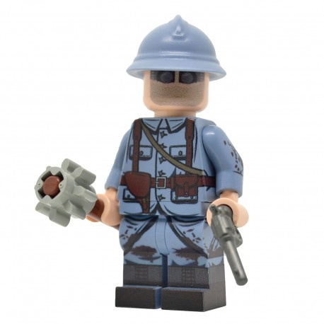 Lego United Bricks - WW1 French Trench Raider Minifigure