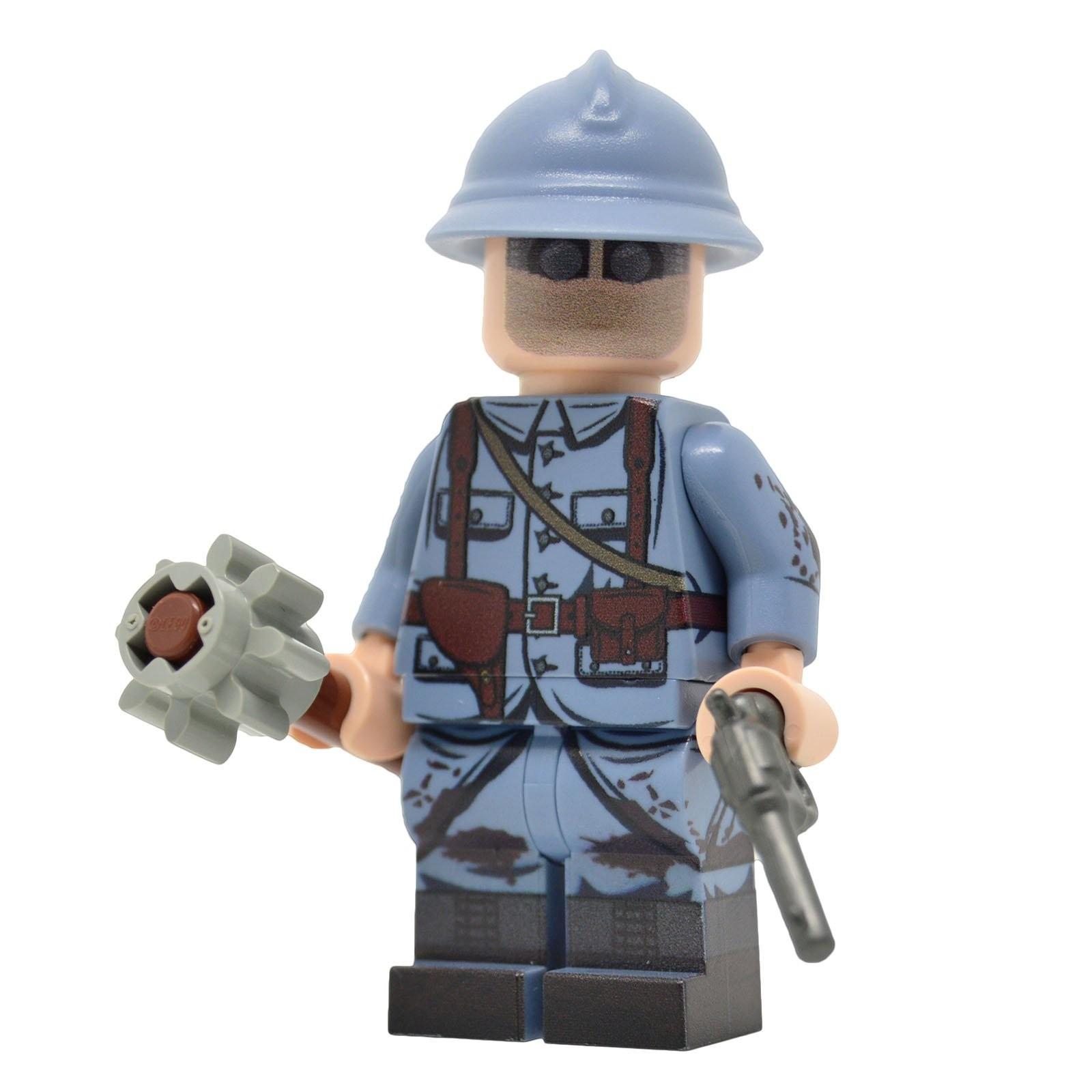 Lego militaire guerre mondiale WW2 casque arme minifig soldat armée Allemande