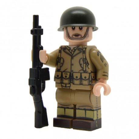 Lego United Bricks - WW2 Ranger de l' U.S. Army Minifigure (BAR) Minifigure