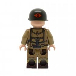 Lego United Bricks - WW2 U.S. Army Ranger Minifigure (BAR) Minifigure