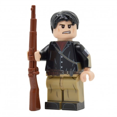 Lego United Bricks - WW2 Résistant Français Minifigure EXCLUSIVE, exclusivité La Petite Brique