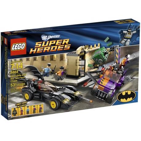Lego SUPER HEROS 6864 - La poursuite de Double-Face en Batmobile (La Petite Brique)