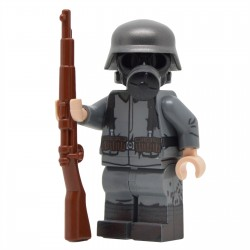 Lego United Bricks - WW1 Soldat Allemand Masque à Gaz Minifigure