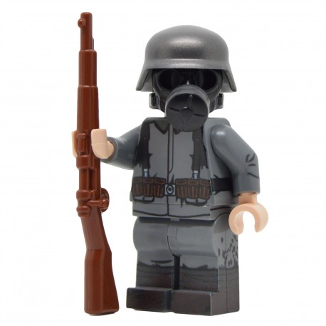 Lego United Bricks - WW1 German Soldier with Gasmask Minifigure