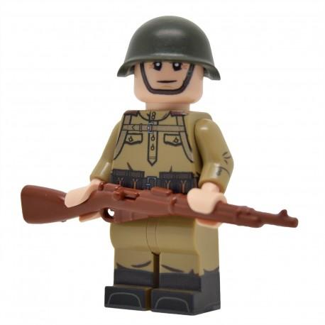 United Bricks - WW2 Soviet Infantry with M43 Gymnastyorka (Mosin) Minifigure