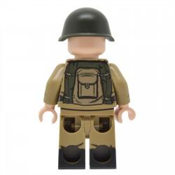 United Bricks - WW2 Infanterie soviétique avec M43 Gymnastyorka (Mosin) Minifigure