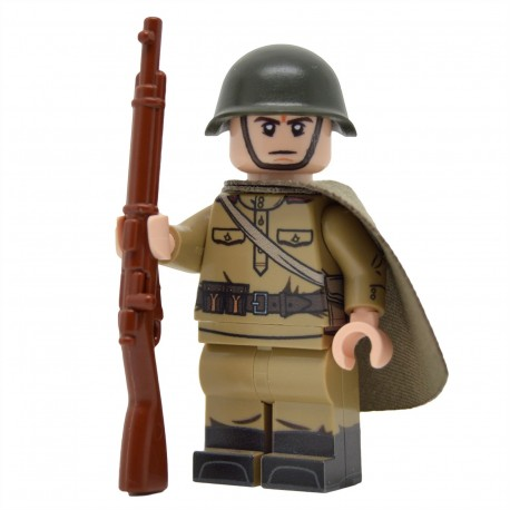 United Bricks - WW2 Soviet Infantry with Plash-Palatka Minifigure