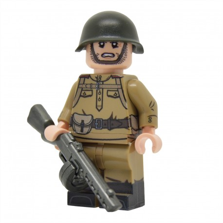 United Bricks - WW2 Infanterie soviétique avec M43 Gymnastyorka (PPSh-41) Minifigure